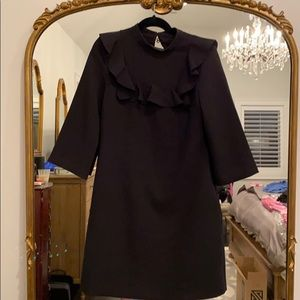 Banana Republic black ruffle dress size 10